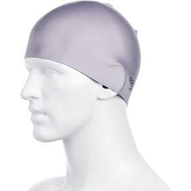 speedo Plain Moulded Bathing Cap grey/silver